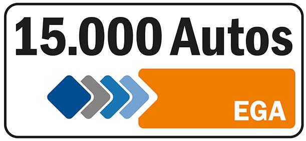 Über 15000 Fahrzeuge